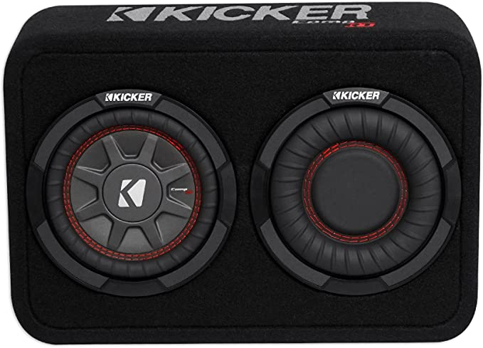 "Kicker 43TCWRT674 300W Single 6.75/"" CompRT Shallow Loaded Subwoofer Enclosure"