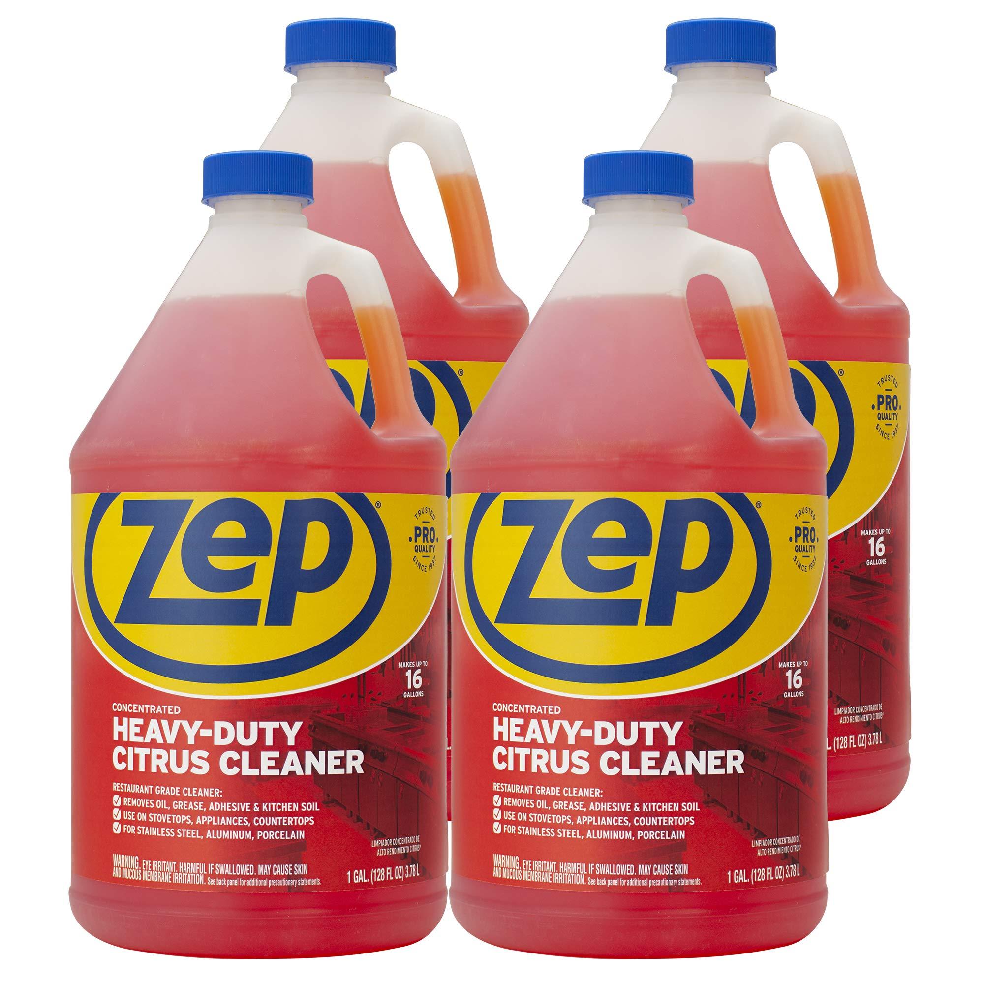 Zep Heavy-Duty Citrus Cleaner 128 Ounce ZUCIT128CA (Case of 4)