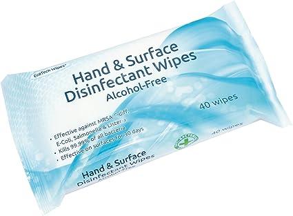 Mano y superficie sin alcohol desinfectante toallitas 16 paquetes de 40 toallitas