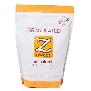 Z SWEET All Natural Zero Calorie Sweetener - Granulated 24 Oz. Non-GMO, Gluten-Free, No Glycemic Impact Erythritol Sugar Alternative - Perfect for Diabetic, Keto, Atkins, Paleo, and Low-Carb Diets