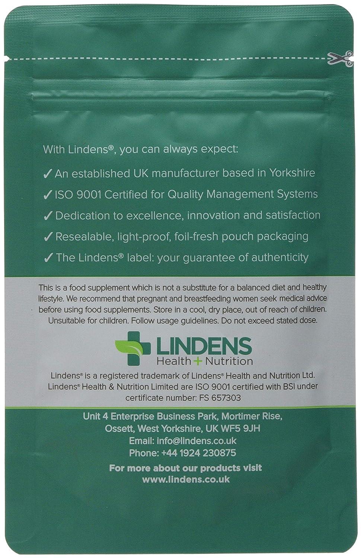 Lindens Picolinato de cromo 200 mcg en comprimidos | 100 Paquete | Gran resistencia de 500 % de VRN que apoya el mantenimiento normal de concentración ...