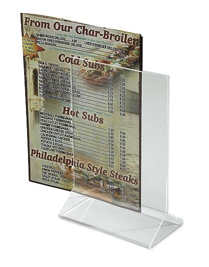 amazon com acrylic table tent menu card holders 4 x 6 recipe