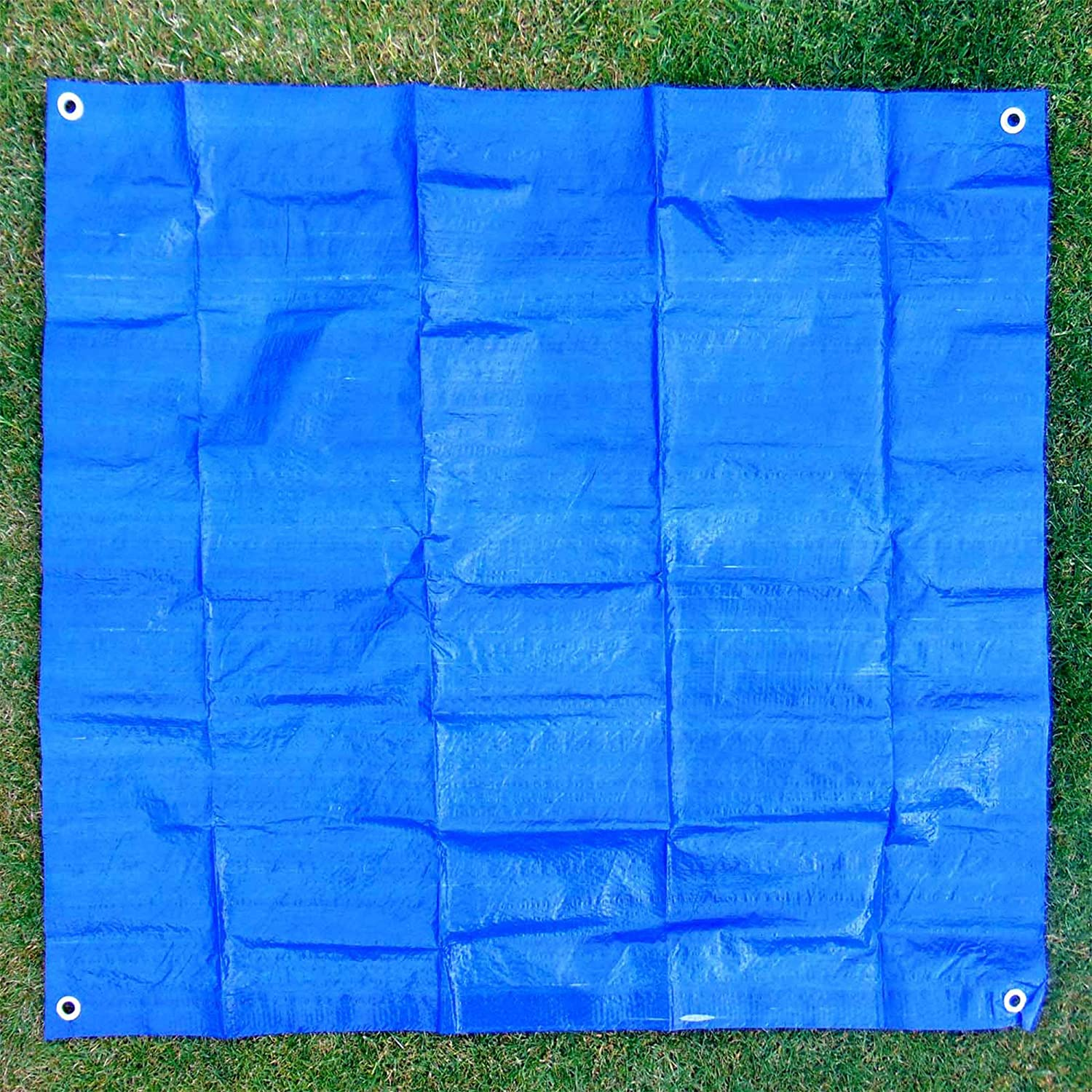 New Waterproof Outdoor Table Garden BBQ Grill Cover General Purpose Tarpaulin 1m x 85cm Heavy Duty Blue Polyester Scratch Resistant Durable Tarp Cover for Protection