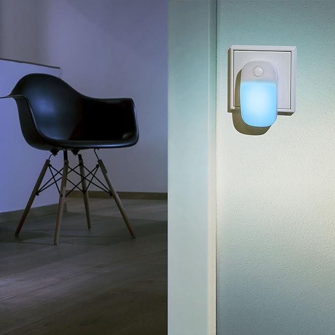 Ansmann LED-Guide Ambiente - Luz de orientación LED con interruptor on/off integrado, color azul: Amazon.es: Oficina y papelería