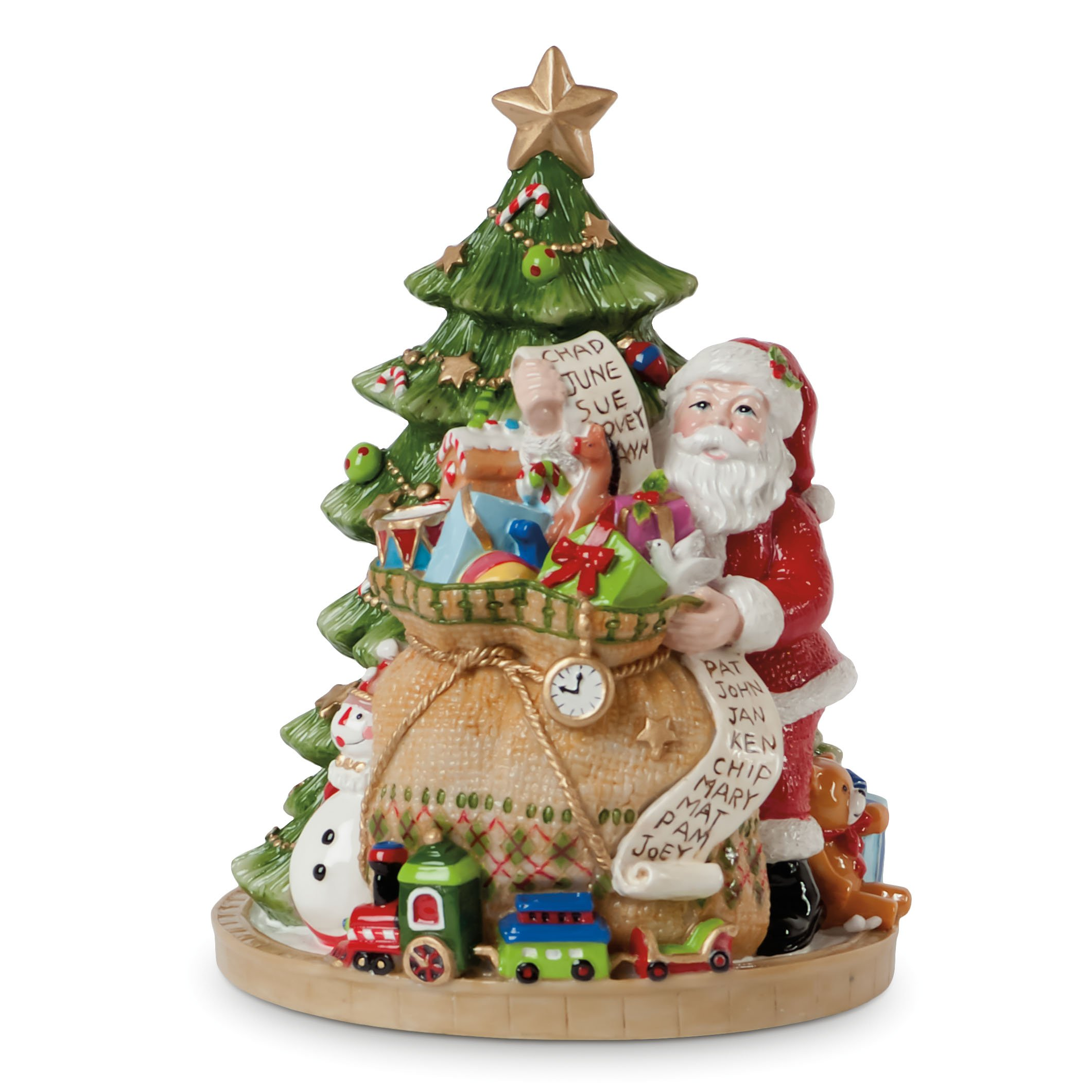 Fitz and Floyd Gifts from Santa Collection, We Wish You A Merry Christmas' Musical Figurine