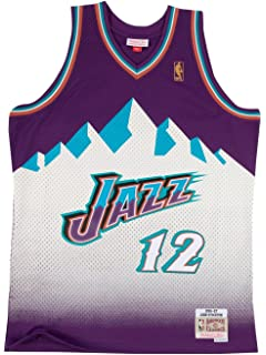 Amazon.com   adidas John Stockton Utah Jazz NBA Men s White Replica ... cd94dbaf5
