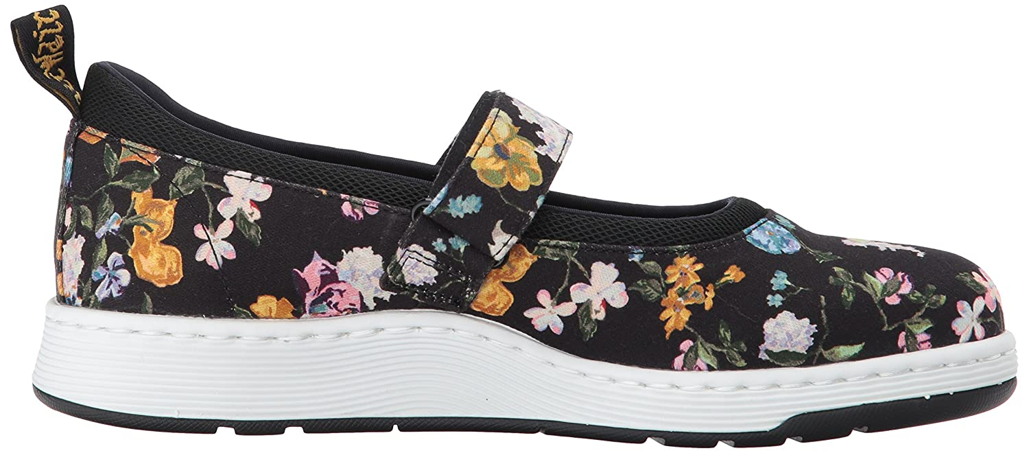 Dr. Martens Askins DF Black Darcy (Black) Floral Fine Canvas, Mary Jane DonnaNero (Black) Darcy acf952
