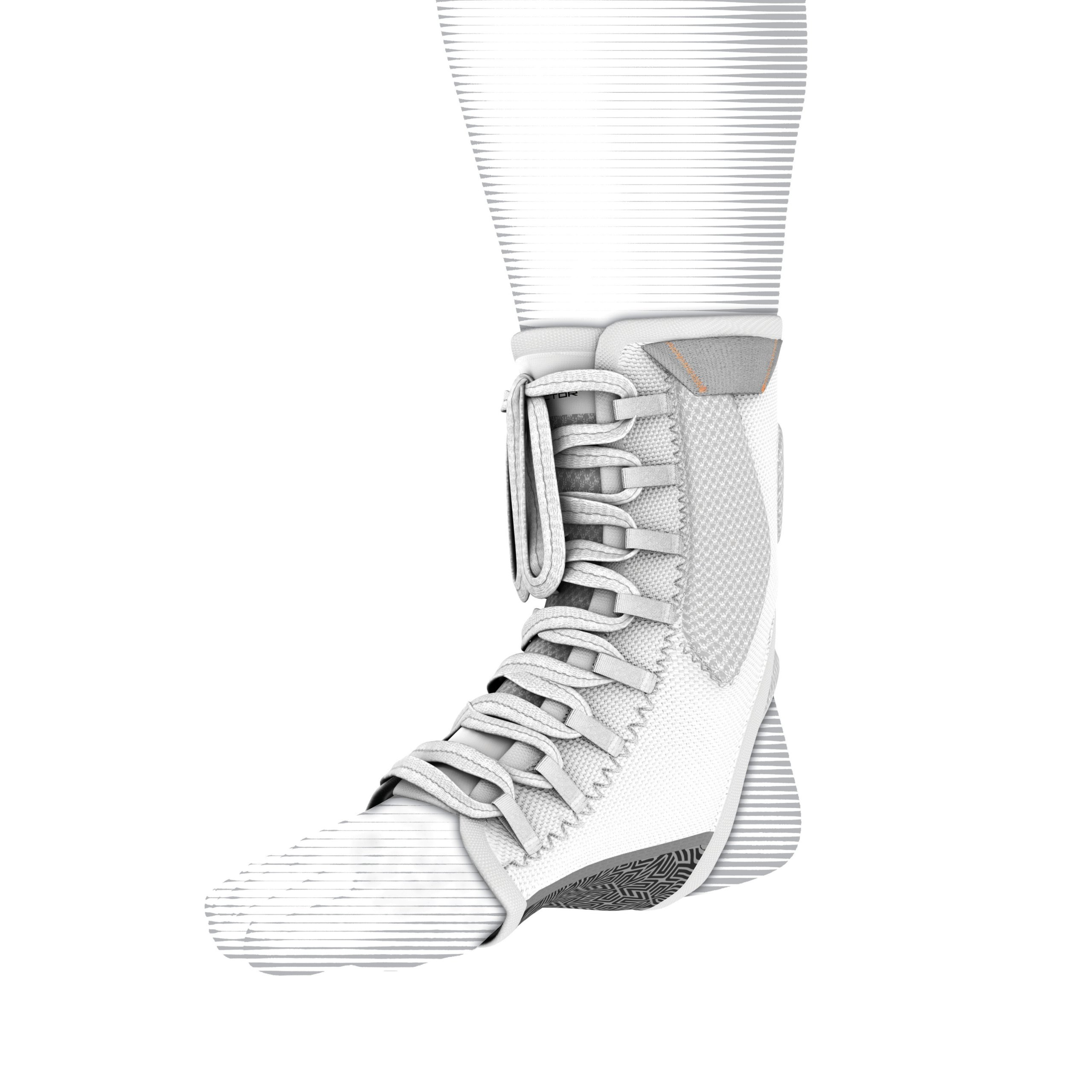 Shock Doctor Ultra Gel Lace Ankle Support (White, X-Large)