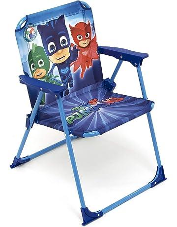 ARDITEX Silla Plegable para niños bajo Licencia Les pyjamasques en Metal, Tela, 38 x