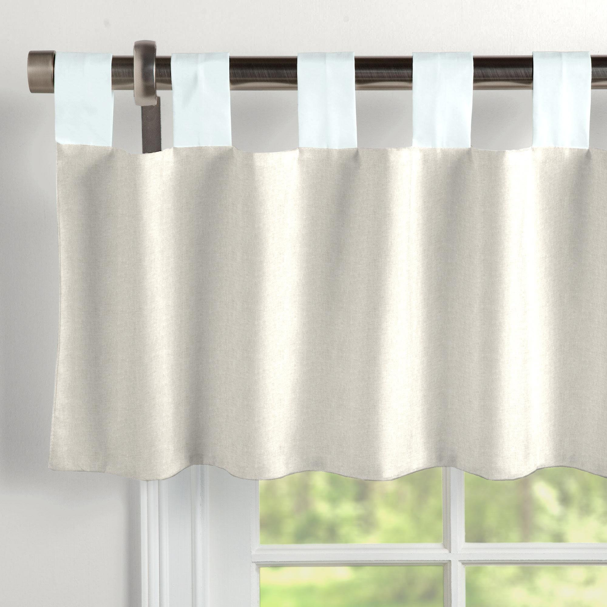 Carousel Designs Light Blue Linen Window Valance Tab-Top
