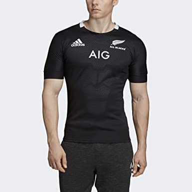 Humano Servicio Están deprimidos  Amazon.com: Adidas All Blacks - Camiseta de rugby: Clothing