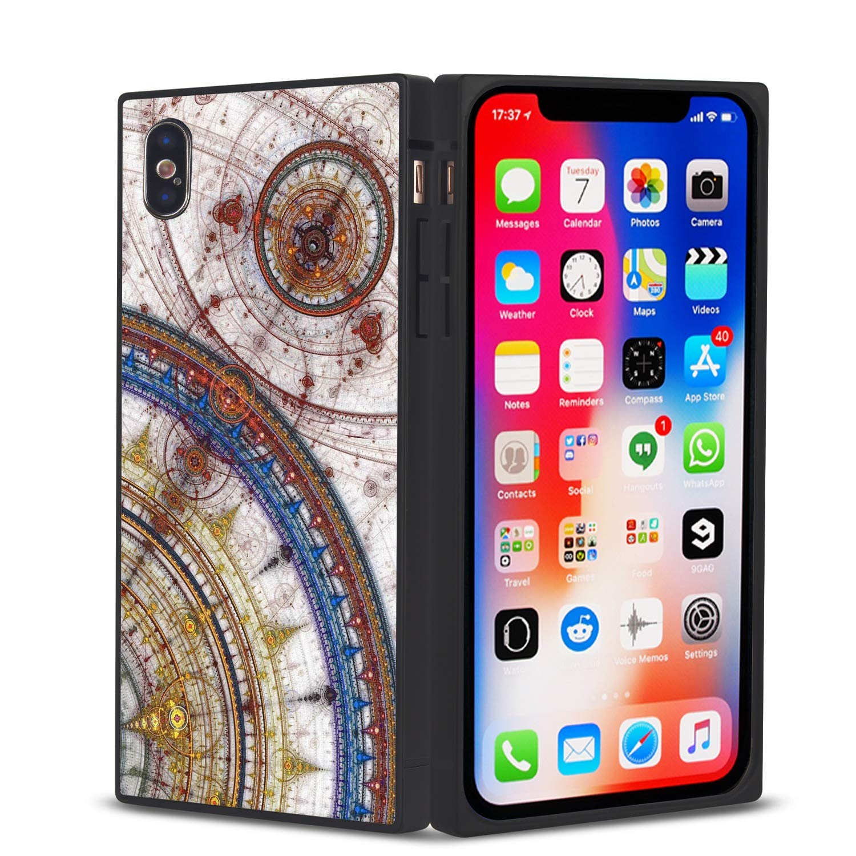 Amazon com: YaoLang iPhone X/10 Square Edges Case, Compass