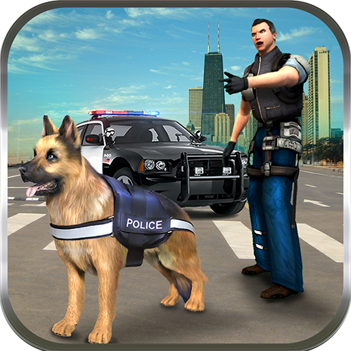 Action Harness (Police Dog n Police Car Rush Chase Crime City Gangsters Attack: Cops Robbers Gangster Fighting Survival Mission Action Adventure Simulator 3D Game 2018)