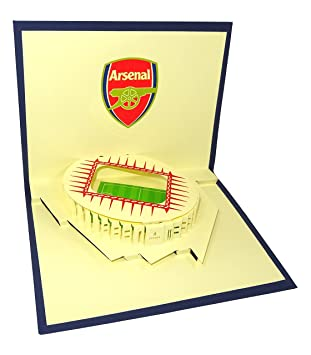 Arsenal Stadium Emirates Design 3D Pop Up Card Greeting Birthday Gift Unique Football For Gooners Amazoncouk Office