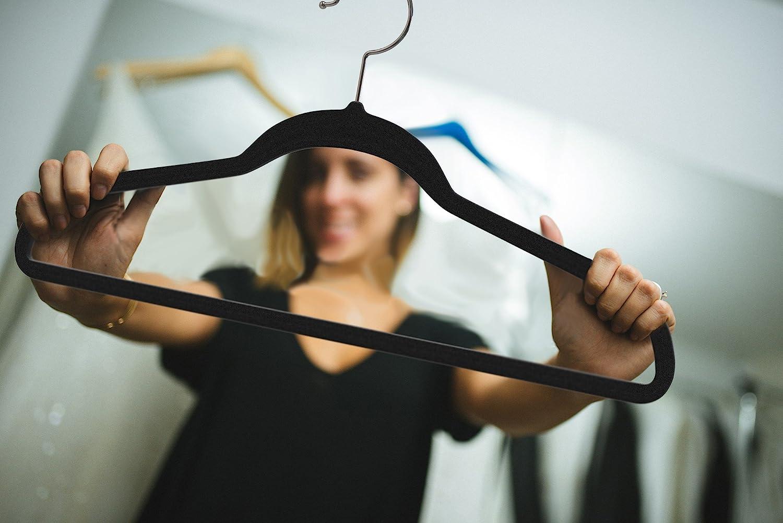 Stronger Than Standard Velvet Hangers Premium Quality Velvet Hanger Set of 50 Ivory Swivel Hooks Space Saving Clothes Hangers Ultra -Thin No Slip Velvet Suit Hangers