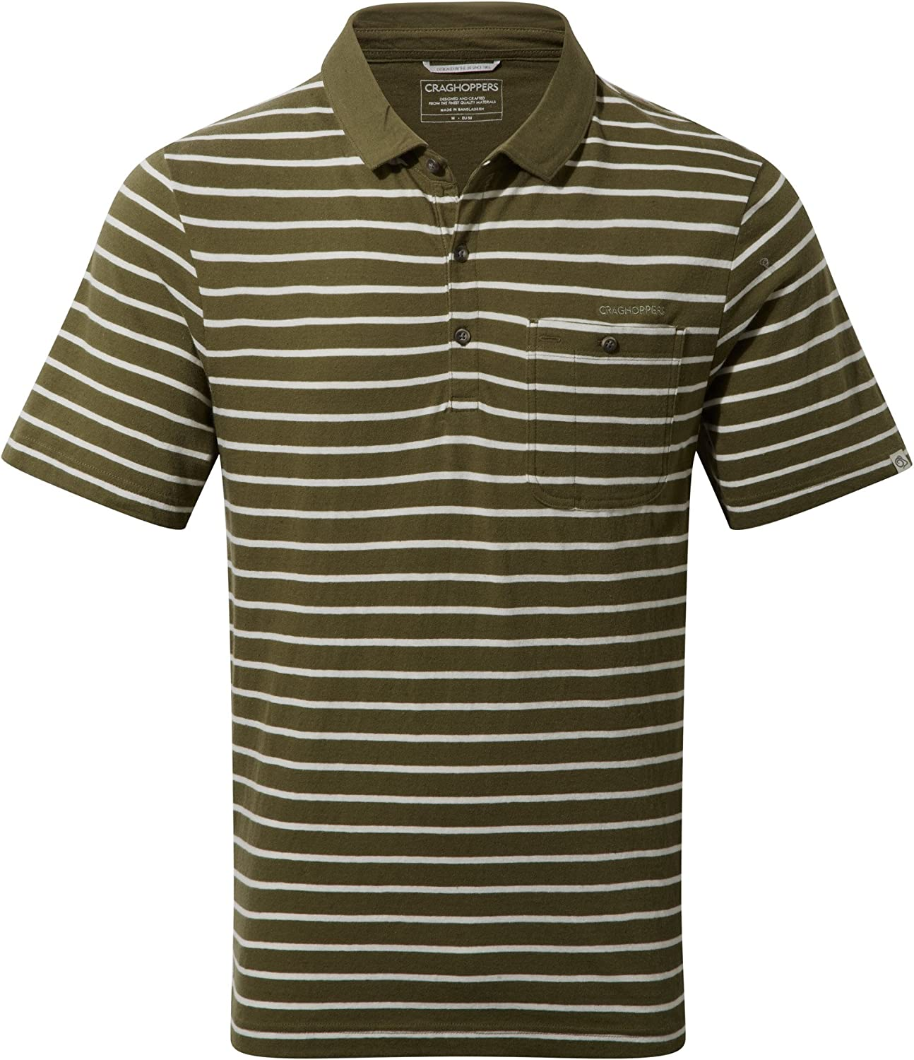 Craghoppers Mens Fraser Short Sleeve Cool Cotton Polo Shirt