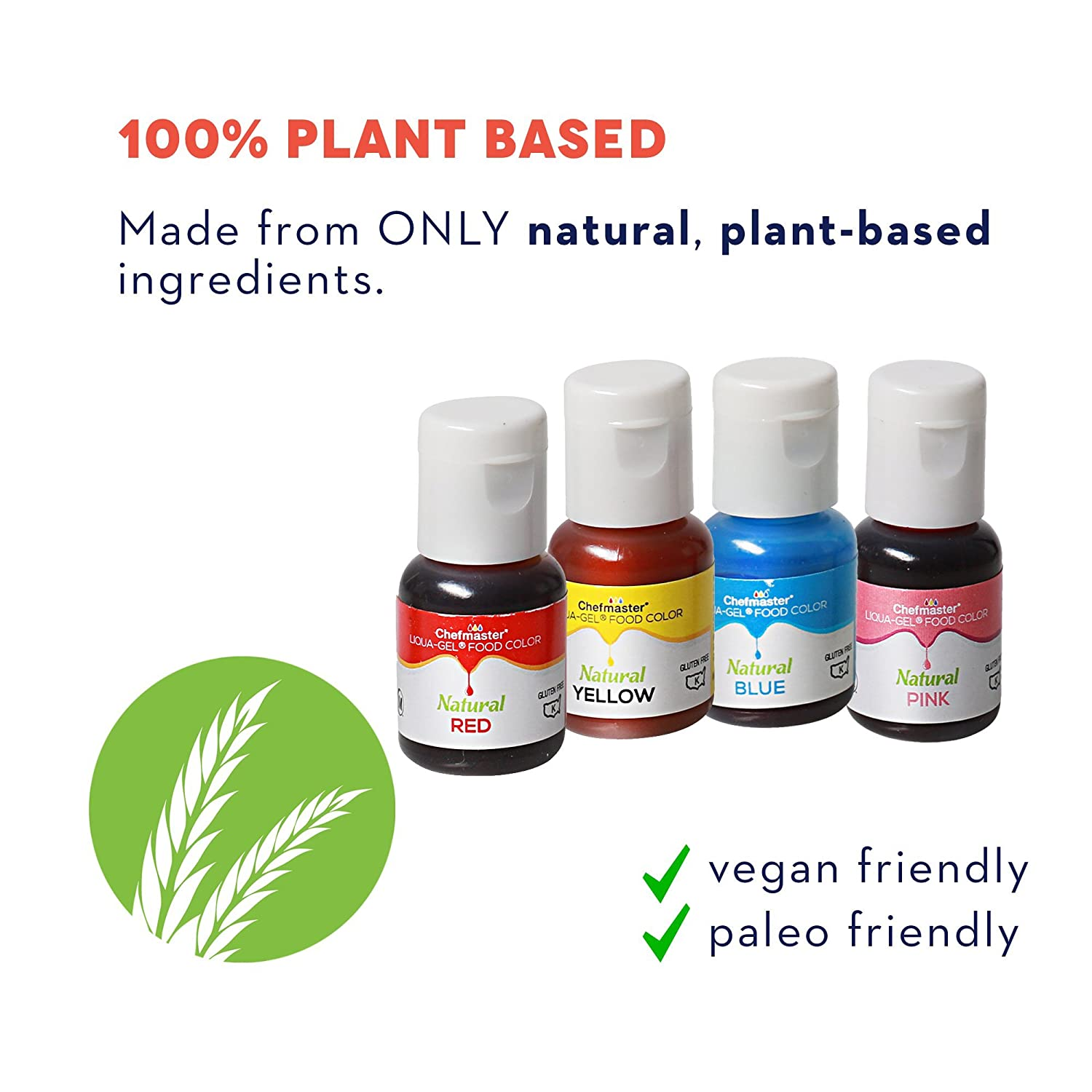 Amazon.com : Chefmaster All Natural Food Coloring, Vegan-Friendly ...