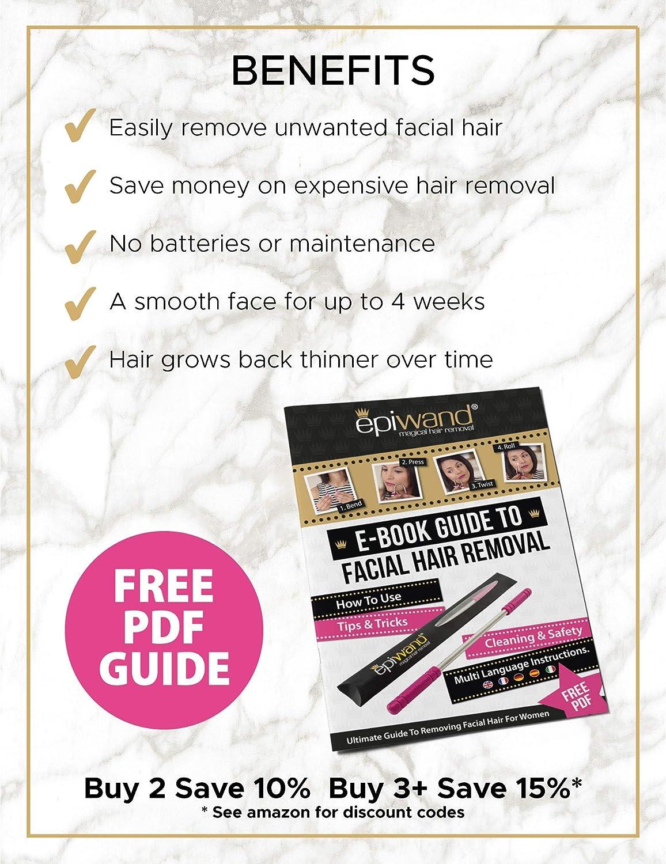 Epiwand, depiladora de vello facial para mujeres, rosa: Amazon.es: Belleza