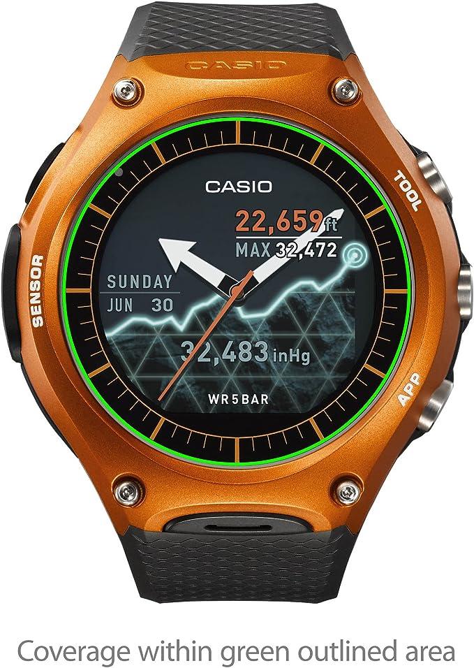 Casio WSD-F10 Protector de Pantalla, BoxWave® [ClearTouch Cristal ...