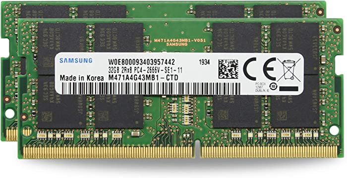 "Adamanta 64GB (2x32GB) Geniune Factory Original Memory Upgrade for 2019 Apple iMac 27"" w/Retina 5K Display, Late 2018 Apple Mac Mini DDR4 2666MHz PC4-21300 SODIMM 2Rx8 CL19 1.2v DRAM RAM"