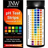 JNW Direct pH Test Strips, 150 Universal Strips pH 0-14 for Testing Water, Urine, Saliva, Pool, Kombucha, Soap Making, Cosmet
