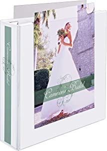 """Avery Heavy-Duty View 3 Ring Binder, Extra Wide, 2"""" EZD Rings, 1 White Binder (01320)"""