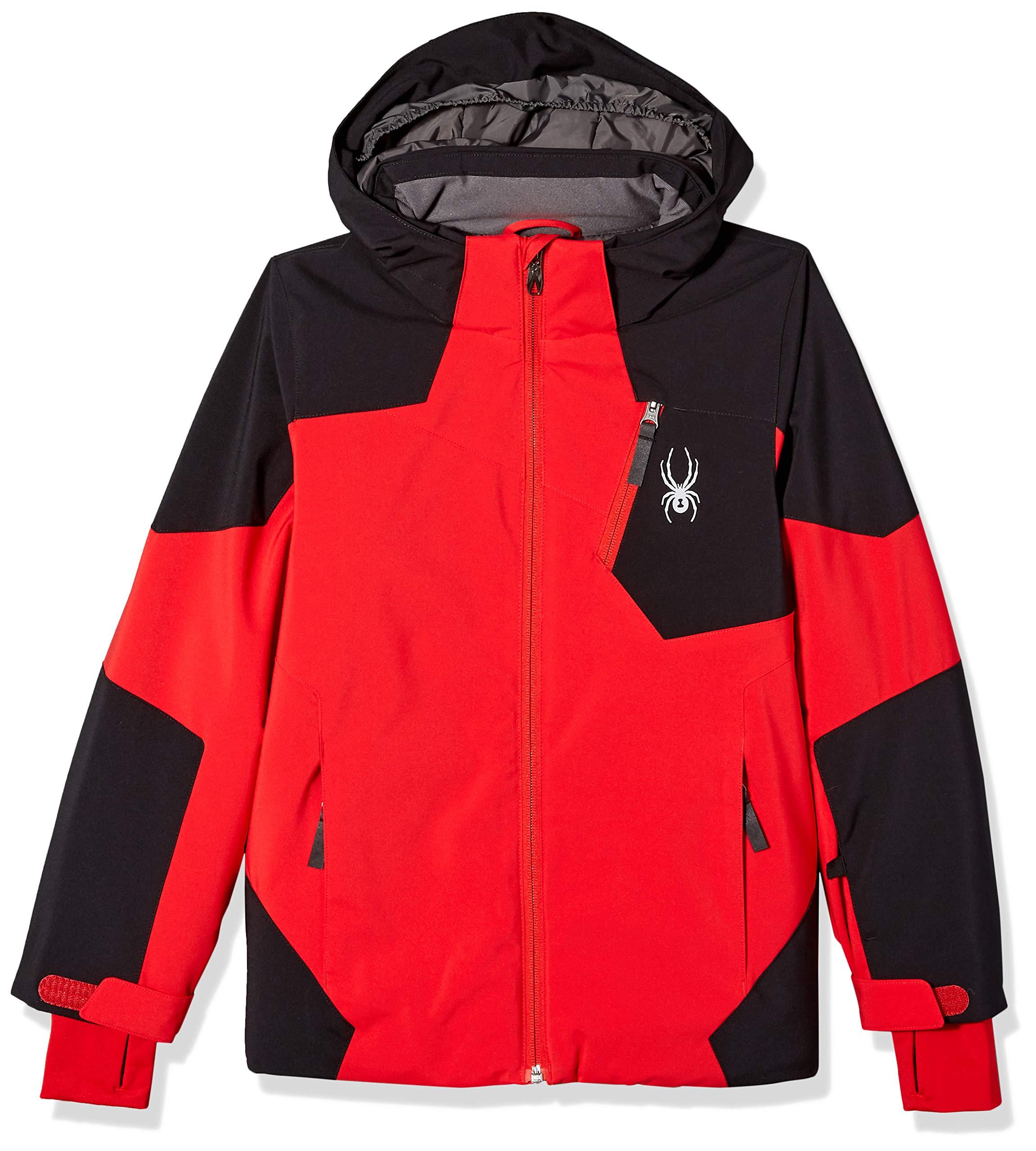 Spyder Boys' Chambers Ski Jacket, Red/Black/Red, Size 10