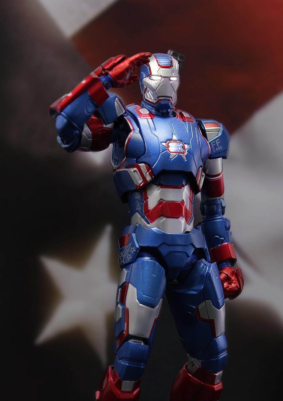 1//12 Scale Play Imaginative Iron Patriot Iron Man 3 Action Figure