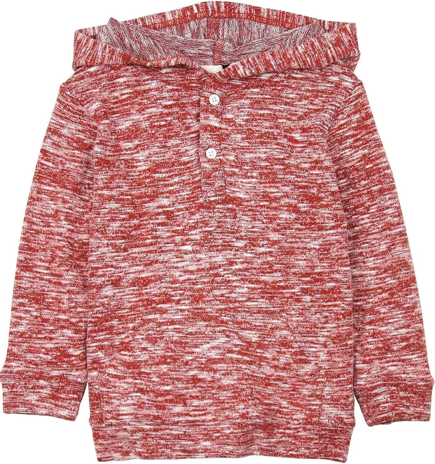 Deux par Deux Little Boys Hooded T-Shirt in Red Go Mecano Sizes 18M-6