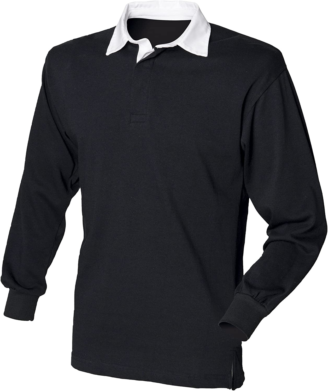 Front Row Long Sleeve Plain Rugby Shirt