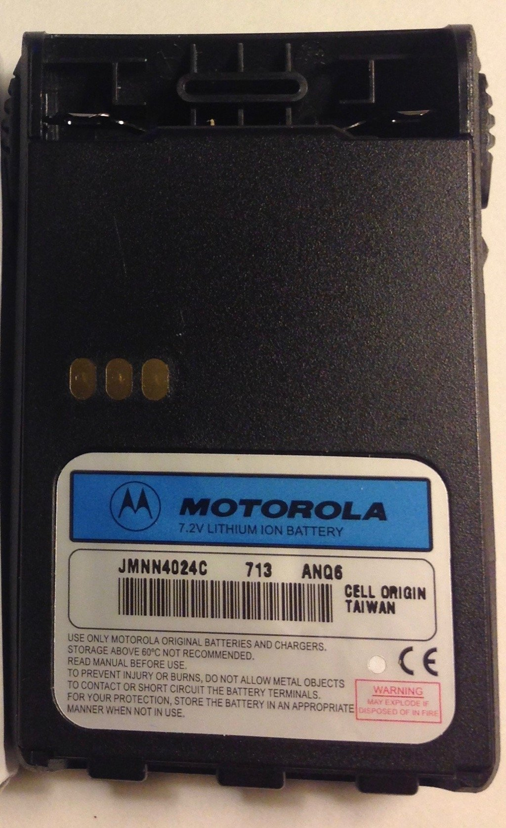 Motorola Original (OEM) JMNN4024CR Li-Ion 7.4V 1300mAh Battery