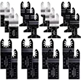 Vtopmart 20 Metal Wood Oscillating Multitool Quick Release Saw Blades Compatible with Fein Multimaster Porter Cable…