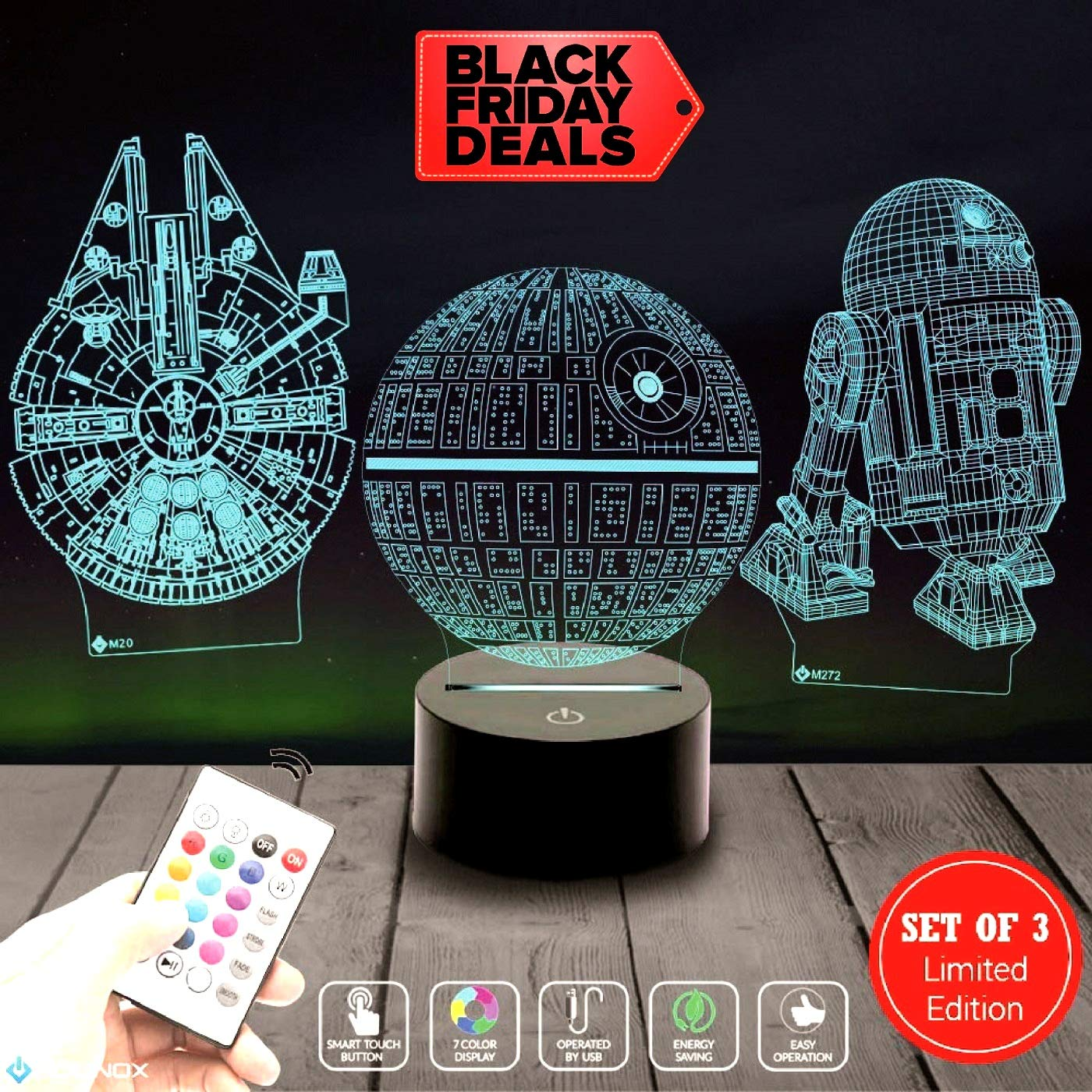 Death Star 3D Light Awesome Gift for Star Wars Fans 75159 (MT271) Starwars Gifts