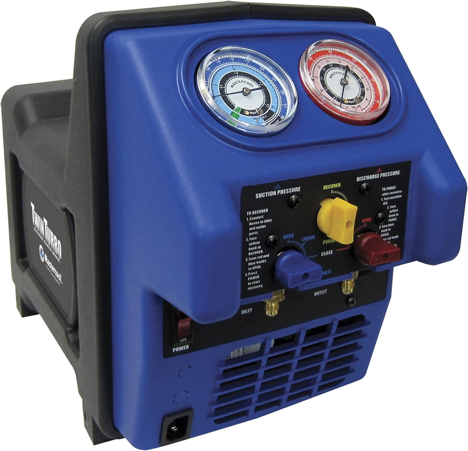 MASTERCOOL Refrigerant Recovery Black Blue System Twin Turbo
