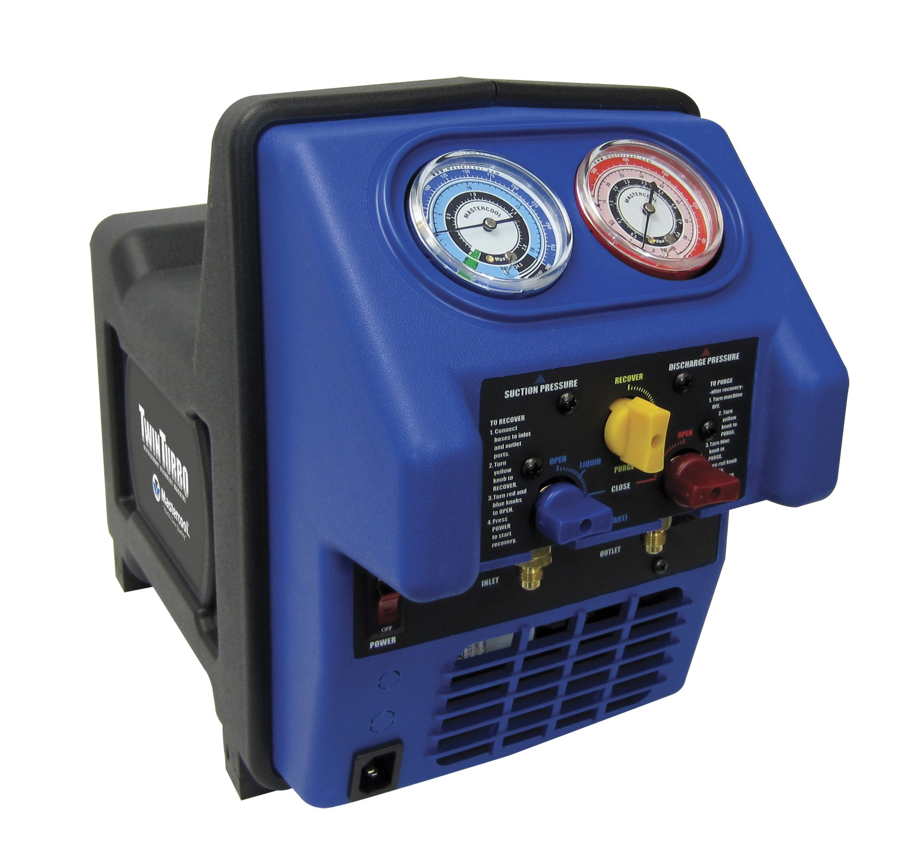 MASTERCOOL (69300 Black/Blue Twin Turbo Refrigerant Recovery System