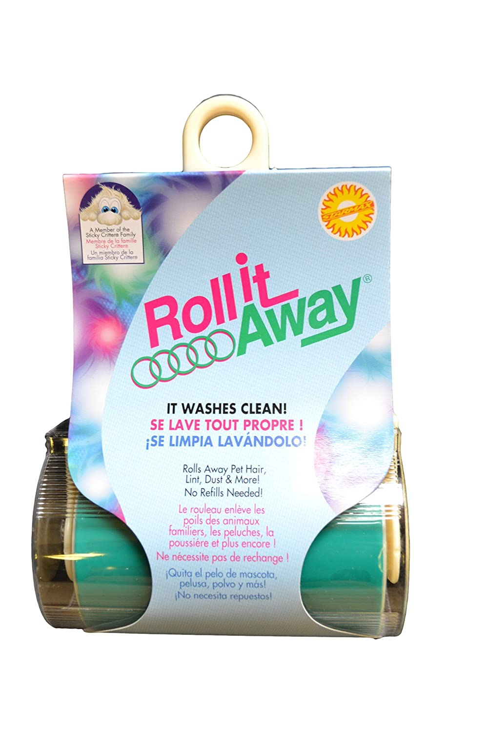 Starmax 265-20 Roll-It Away Washable Sticky Vinyl Roller in Frame, 3