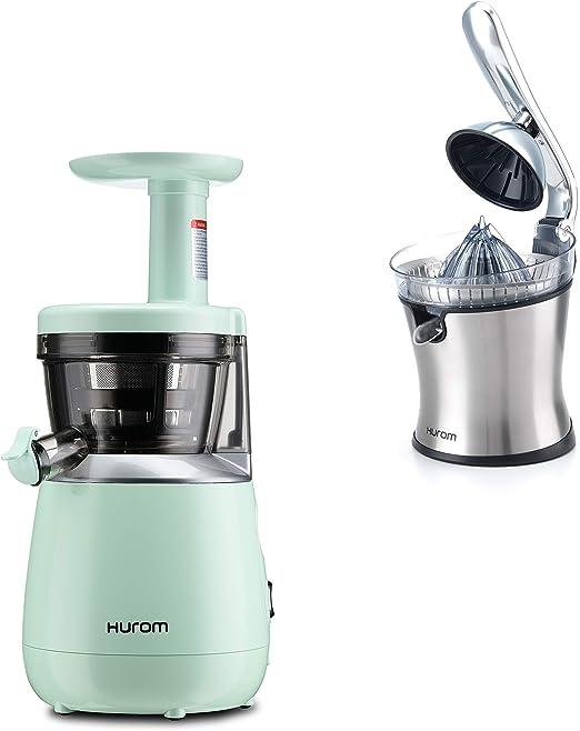 Hurom - Extractor vertical de jugo HP - verde + Exprimidor de ...