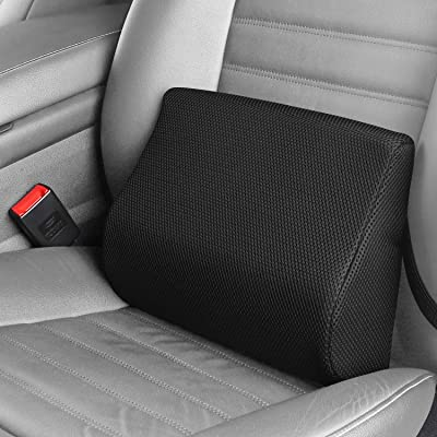 LARROUS 100% Memory Foam Lumbar Back Support Pillow for Car,with Adjustable Strap,Lower Back (Sciatica) Pain Relief,Keeps Back Straight,for Home,Office,Desk Chair,Wheelchair.: Home & Kitchen