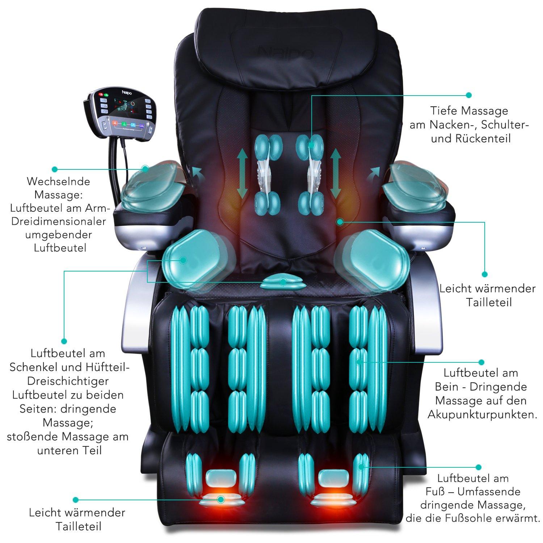 Naipo Shiatsu Massage Stuhl Ganzkörper Massagesessel Fernsehsessel