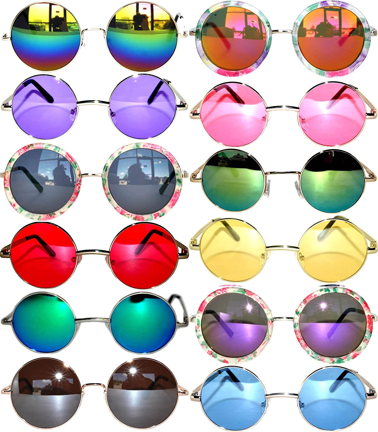 66dfc2b72124e Arm  12.5 centimeters. This lot consists of different size and colors of  lenses. Retro Style Round Circle Colored Lens Vintage Tint Sunglasses ...