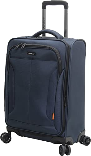 Pathfinder Luggage PX-10 20 Expandable Carry-On Suitcase With Spinner Wheels 20in, Navy