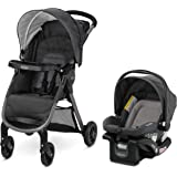 Graco FastAction SE Travel System | Includes Quick Folding Stroller and SnugRide 35 Lite Infant Car Seat, Redmond, Amazon Exc