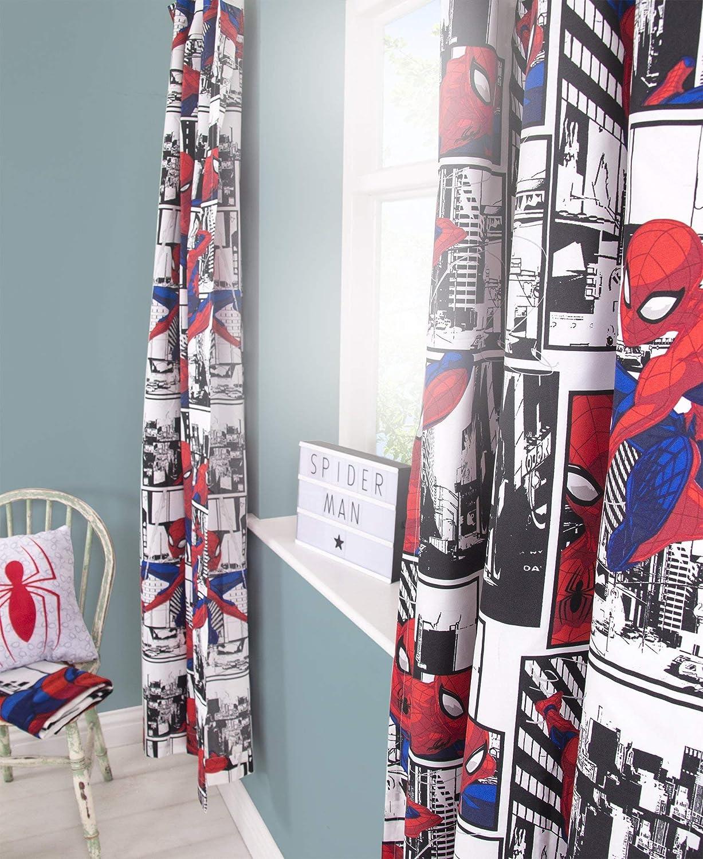 Rouge 182,9/cm Disney Spiderman Rideaux