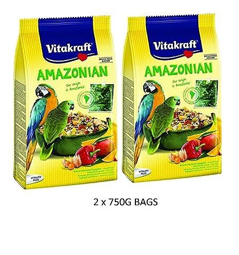 Vitakraft amazónica loro guacamayo y Conure 750 G jaula de pájaros ...