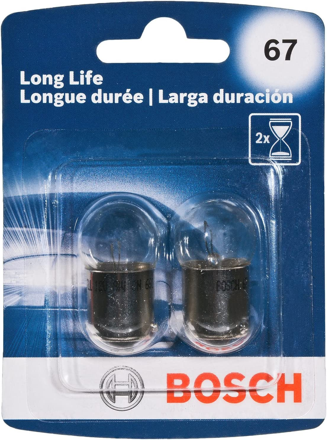 Bosch 67 Long Life Upgrade Minature Bulb, Pack of 2