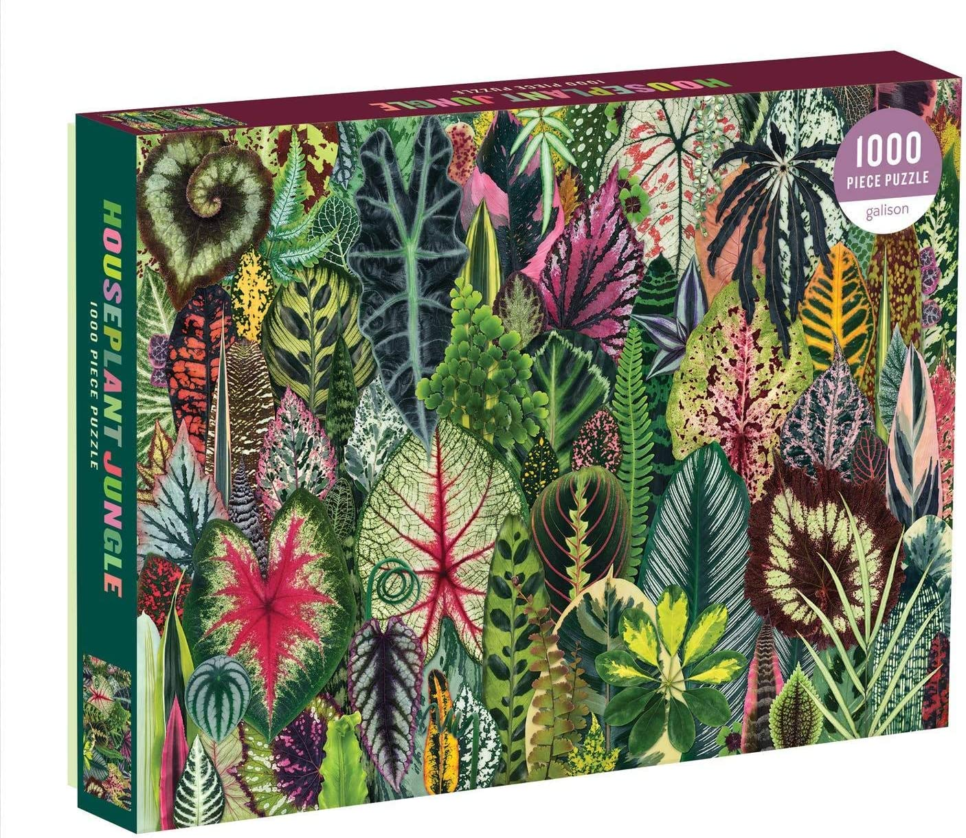 Amazon.com: Galison Houseplant Jungle 1000 Piece Jigsaw Puzzle for Adults – Plant  Jigsaw Puzzle with Mix of Succulents & Other Household Plants – Fun Indoor  Activity, Multicolor: Toys & Games