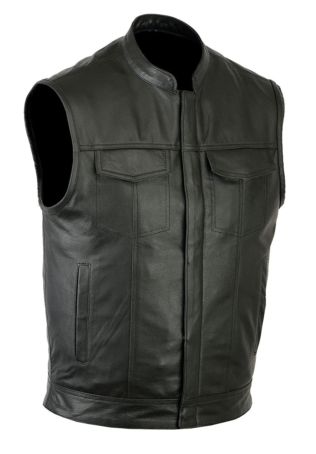 Ruja SOA Sons of Anarchy Style Genuine Leather Vest, Concealed Carry