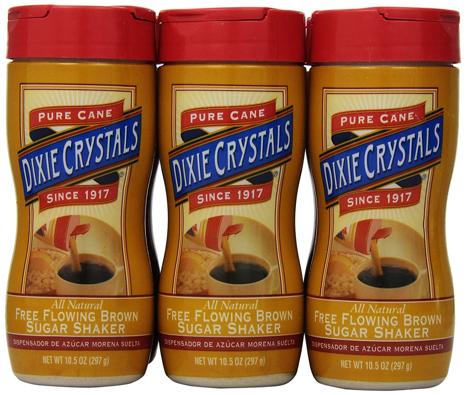 Amazon.com : Dixie Crystals Free Flowing Brown Sugar Shaker, 10.5-Ounce (Pack of 6) : Grocery & Gourmet Food