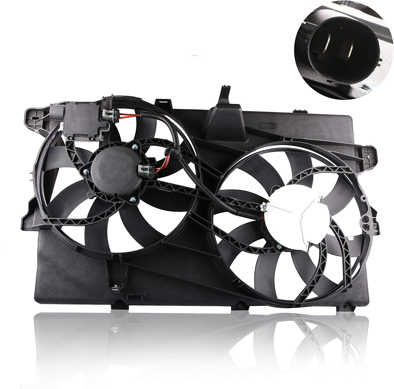 MOSTPLUS Radiator Cooling Fan Assembly for 07-15 Ford Edge Lincoln MKX Replaces 330-55058-000