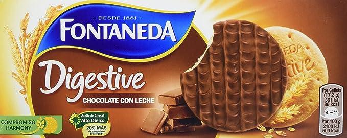 Fontaneda - Digestive - Galletas cubiertas de chocolate con leche - 300 g